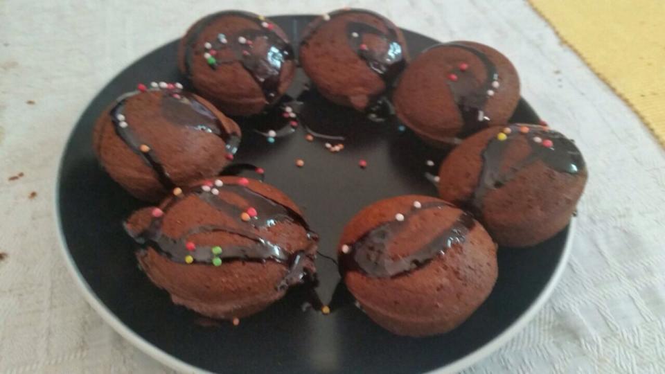 מאפינס שוקולד- במבה נוגט /מעיין פוגל